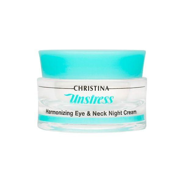 Гармонизирующий ночной крем для кожи вокруг глаз и шеи Unstress Christina (Анстресс Кристина) 30 мл