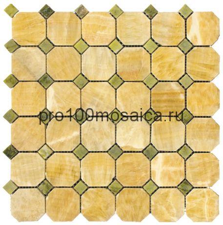 M073+M068-BP Мозаика Оникс+Мрамор 50*50+15*15 OCTAGON 305*305*10 мм (NATURAL)