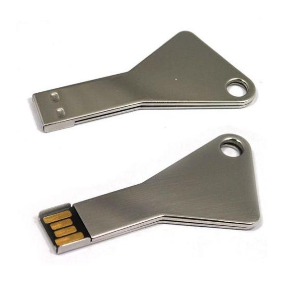 64GB USB-флэш накопитель Apexto UK-004 металлический ключ, серебряный