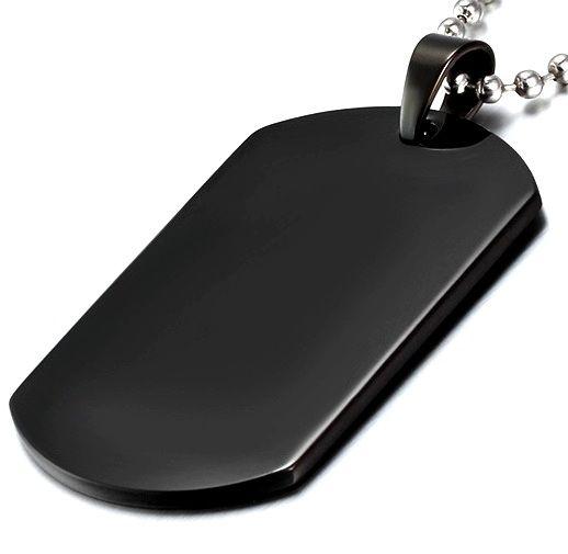 Личный жетон черный