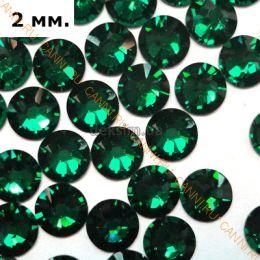 Стразы Swarovski. SS6 Emerald (60 штук)