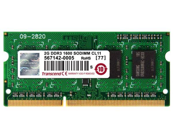 2GB модуль памяти DDRIII-1600 SODIMM 204pin Transcend CL11