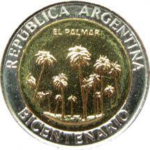 Аргентина 1 песо 2010 г. - парк Эль-Палмар