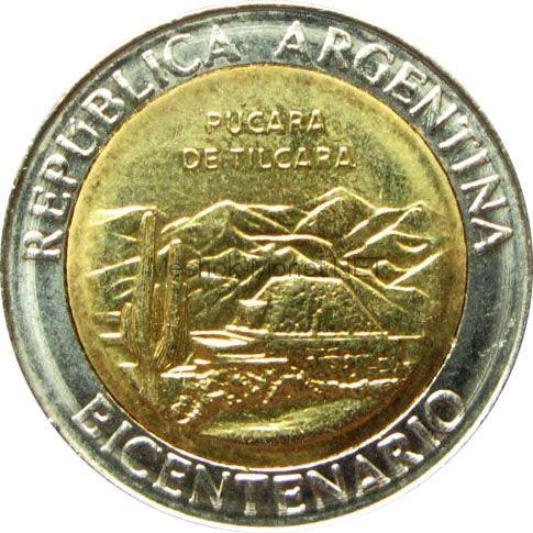 Аргентина 1 песо 2010 г. - развалины крепости Пукара