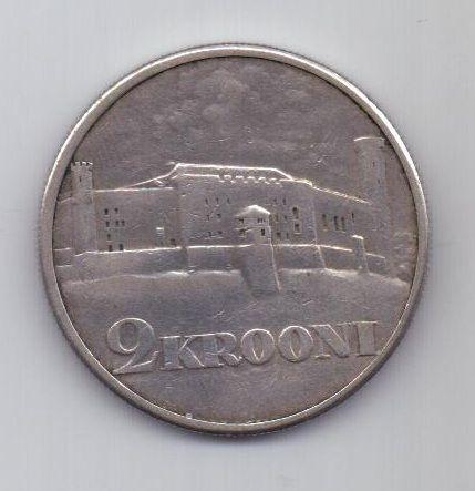 2 кроны 1930 г. XF. Эстония
