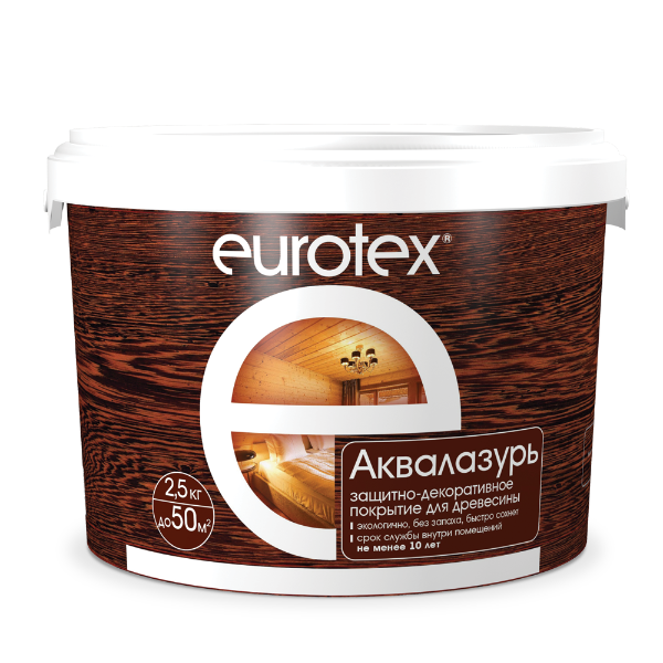 Аква-лак для дерева «Eurotex»
