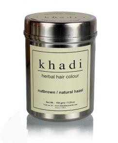 Травяная хна ореховая (коричневая), KHADI HERBAL NUT BROWN HENNA NATURAL HAZEL 150 гр