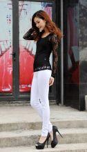 Летние брюки женские леггинсы стрейтч Белые