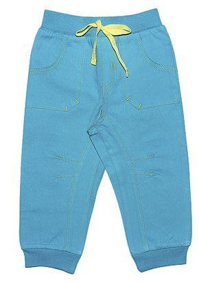 Бирюзовые штаны на завязках для мальчика