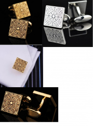 Запонки под золото, и серебро, модель 27