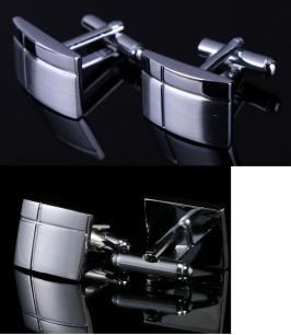 Запонки под серебро, модель 28