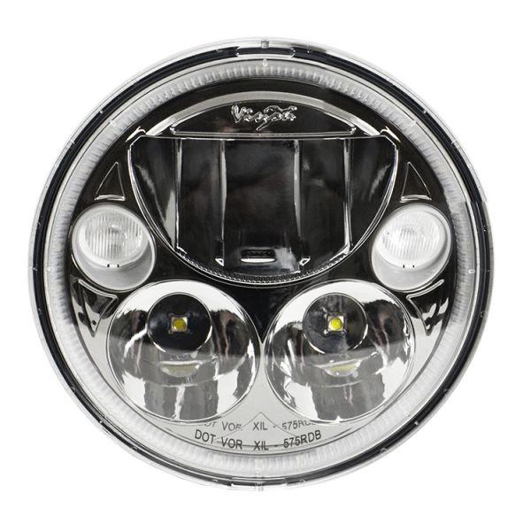 Светодиодная фара головного света Prolight Vortex XMC-575RDB черный хром
