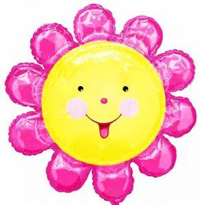 """Шар фигурный  """"Цветок розовый""""  (74cм)"""
