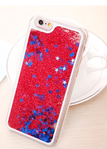 Чехол с блестками для iphone 5/5s (красный)