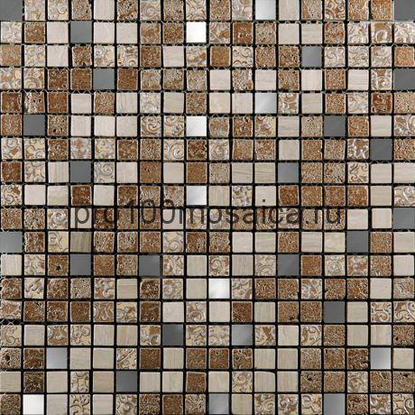 BDC-1501 Мозаика Стекло+Мрамор+Агломерат 15*15 INKA 298*298*8 мм (NATURAL)