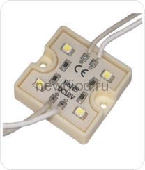 Светодиодный модуль SMD 2835/4LED  35*35*5 мм  IP65 white,40 lm.