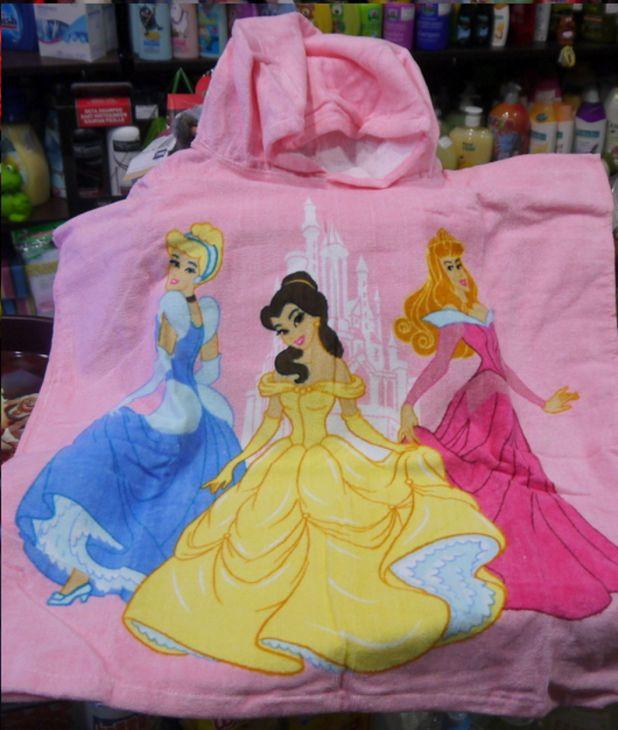 """Полотенце-пончо 120*60 100% хлопок """"Принцессы"""""""