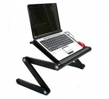 Стол трансформер подставка столик для ноутбука (встроенный вентилятор USB)