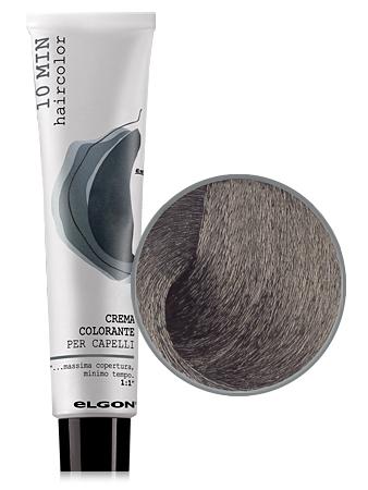 Elgon 10 MIN Перманентная крем-краска №4 Castano коричневый