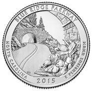 28-й парк США 25 центов Сев. Каролина! Blue Ridge Parkway
