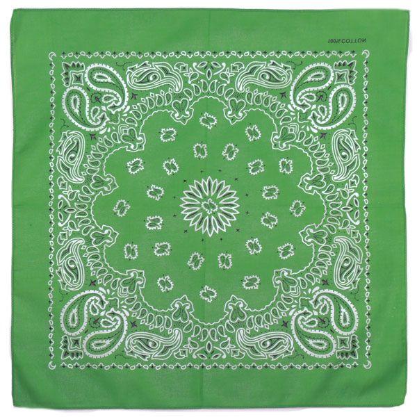 Бандана Пейсли (Зеленая)
