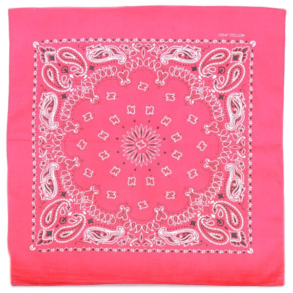 Бандана Пейсли (розовая)