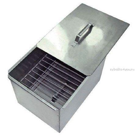 Купить Коптильня двухъярусная с поддоном для сбора жира, сталь 1,0 мм (Артикул: 10-01-0019)
