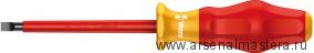 Изолированная шлицевая отвертка Kraftform Comfort WERA 1160 i VDE, 1.0x5.5x200 мм, 031585