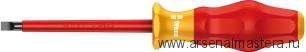Изолированная шлицевая отвертка Kraftform Comfort WERA 1160 i VDE, 1.0x5.5x125 мм, 031587