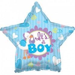 Звезда мальчик шар фольгированный с гелием