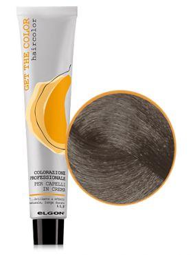 Elgon GET THE COLOR Крем-краска 6.01 темный блонд натуральный пепельный