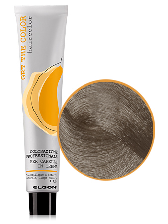 Elgon GET THE COLOR Крем-краска 7.01 блонд натуральный пепельный