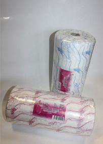 Полотенца одноразовые 35/70 - плотность 50; - 100 штук   розовый/голубой
