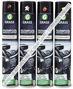 Полироль-очиститель пластика «Dashboard Cleaner» глянцевый блеск GRASS