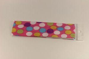`Повязка, ширина 55 мм, цвет розовый в горох