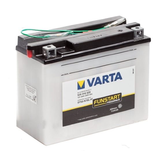 Мото аккумулятор АКБ VARTA (ВАРТА) FP 520 016 020 A514 SY50-N18L-AT 20Ач о.п.