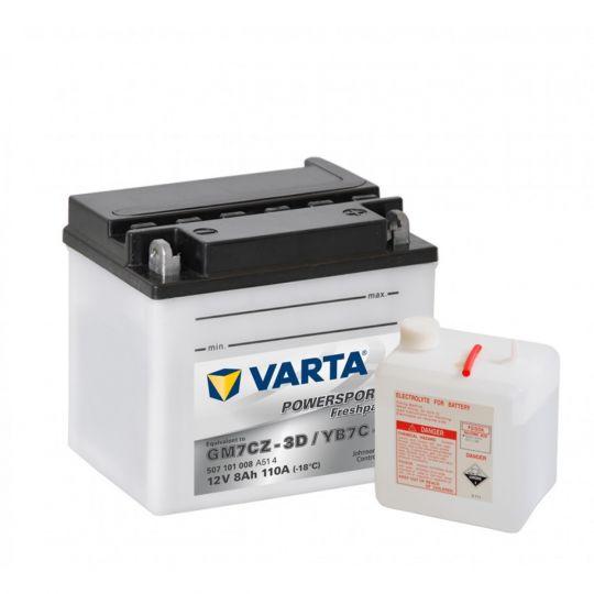 Мото аккумулятор АКБ VARTA (ВАРТА) FP 507 101 008 A514 YB7C-A 8Ач о.п.