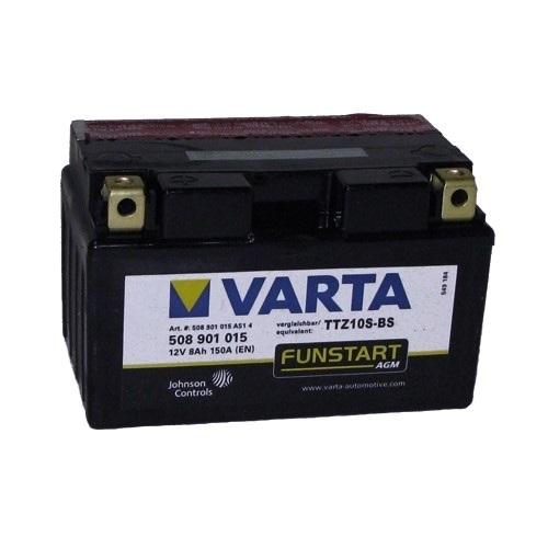 Мото аккумулятор АКБ VARTA (ВАРТА) AGM 508 901 015 A514 YTZ10S-4 / YTZ10S-BS / TTZ10S-BS 8Ач п.п.