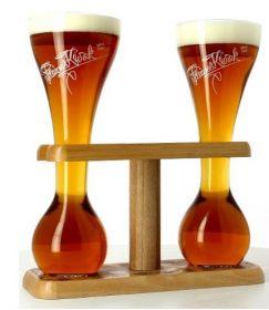 Подставка деревянная Pauwel Kwak (на 2 бокала) + две колбы Kwak