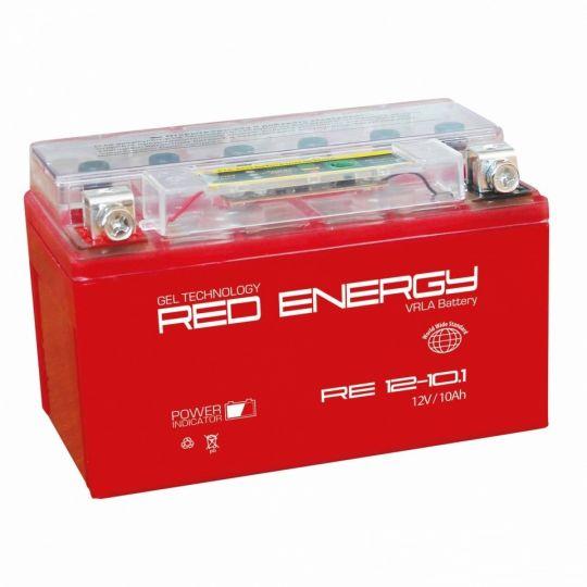Аккумуляторная батарея АКБ RED ENERGY (РЭД ЭНЕРДЖИ) GEL 1210.1 YTZ10S 10Ач п.п.
