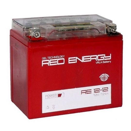 Аккумуляторная батарея АКБ RED ENERGY (РЭД ЭНЕРДЖИ) GEL 1212 YTX14-BS, YTX12-BS 12Ач п.п.