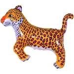 Леопард фольгированный шар с гелием