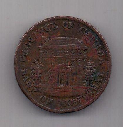 1/2 пенни 1844 г. Канада. Великобритания
