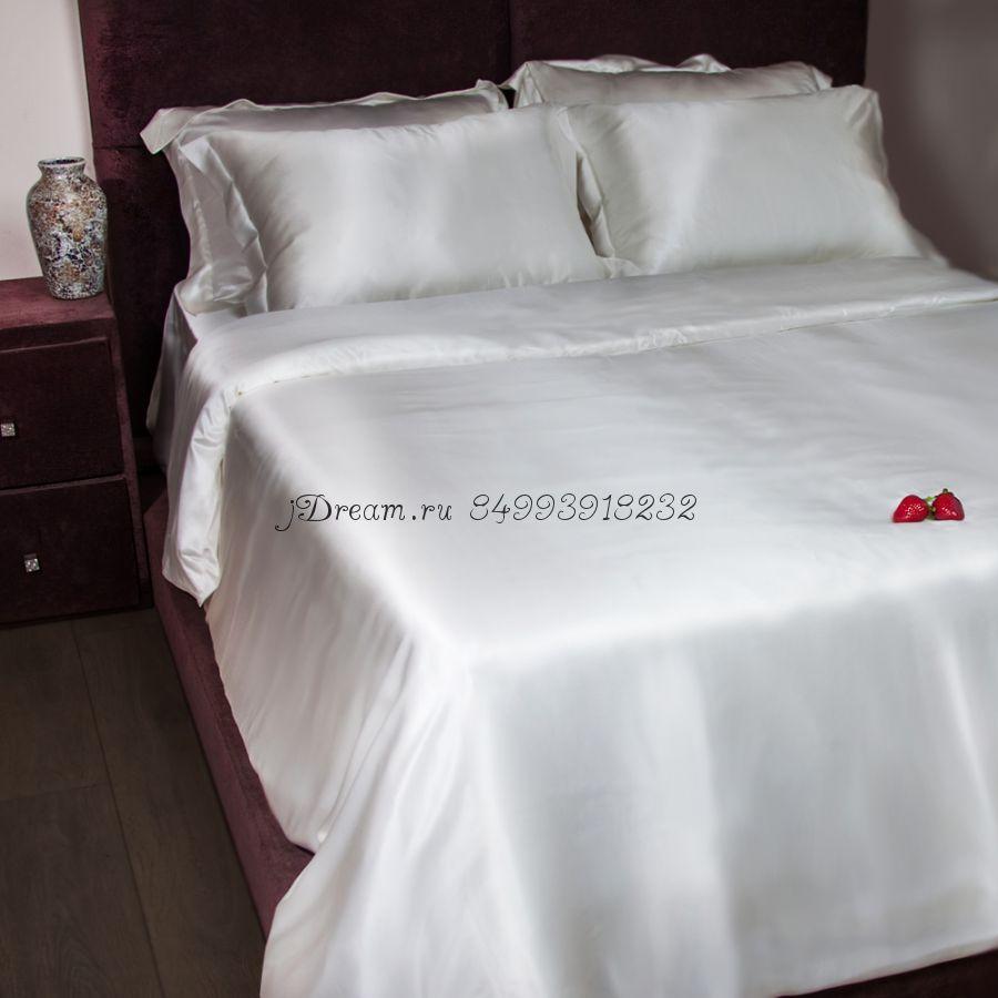 Шелковое постельное белье Белый Шоколад