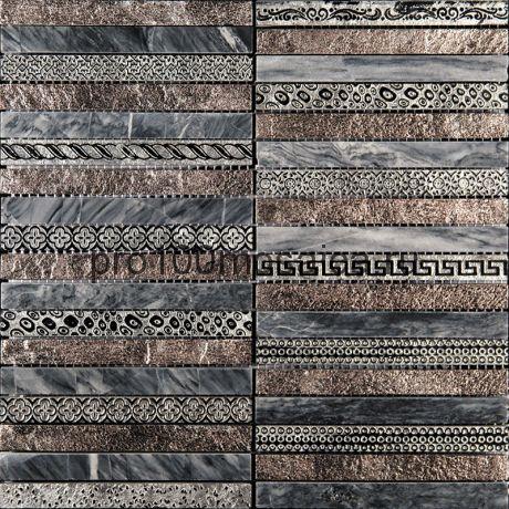 GLN-2. Мозаика 15*148*10, серия GOLDEN LINE,  размер, мм: 300*300 (Skalini)