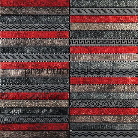 GLN-6. Мозаика 15*148*10, серия GOLDEN LINE,  размер, мм: 300*300 (Skalini)