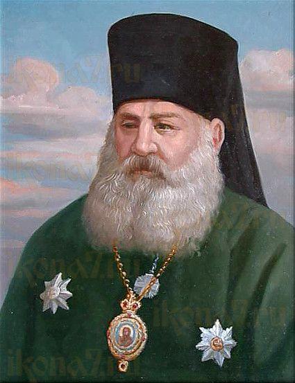 Икона Митрофан Астраханский (рукописная)