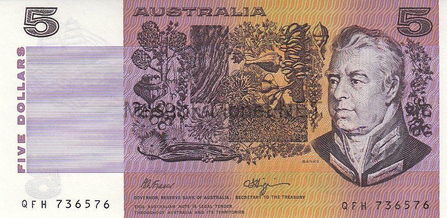 Банкнота Австралия 5 долларов 1990 год