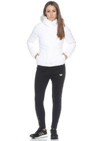 Женский пуховик adidas Women's Stretch Down Jacket белый