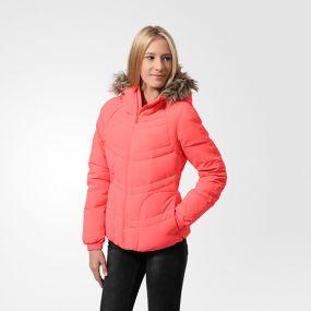 Женская куртка adidas Womens Stretch Down Jacket розовая